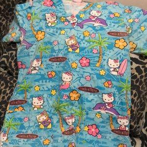 Hello Kitty beach dolphin scrub top